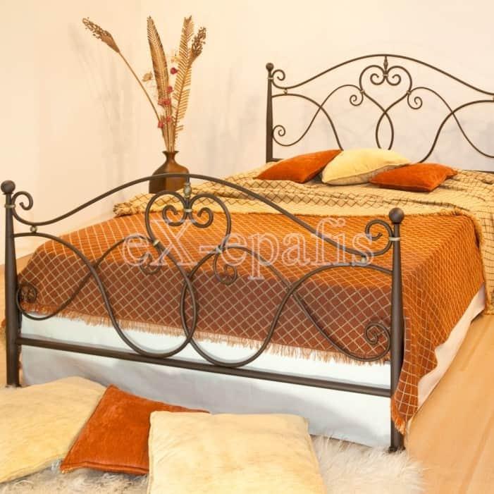 μεταλλικό κρεβάτι Αριάδνη 130 (1)