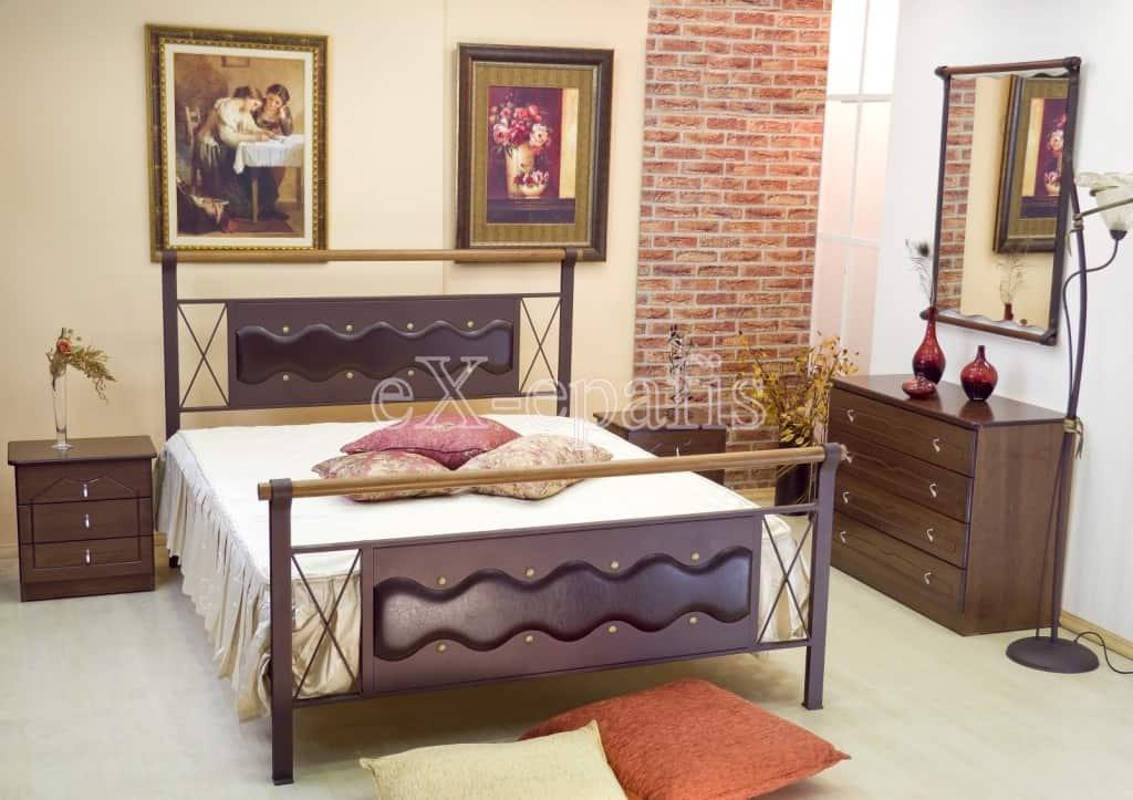 μεταλλικό κρεβάτι καλλιόπη 106