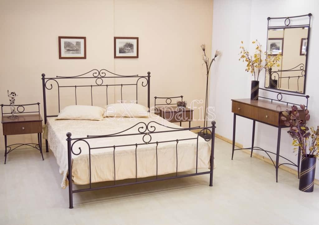 μεταλλικό κρεβάτι κλειώ 112