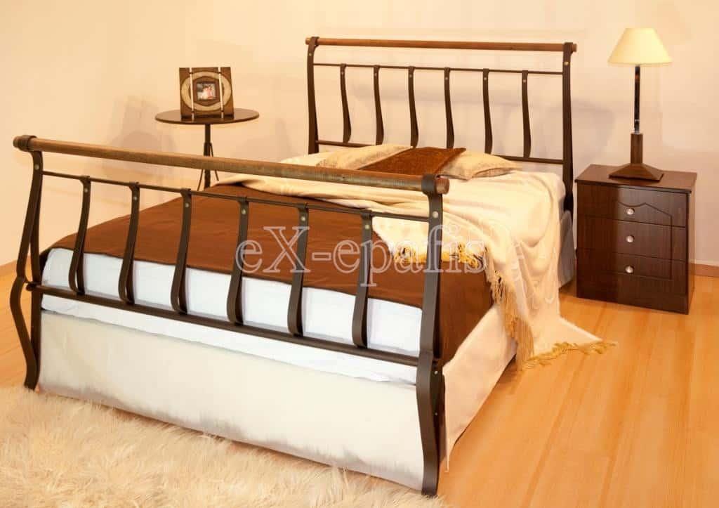 μεταλλικό κρεβάτι λυδία 128