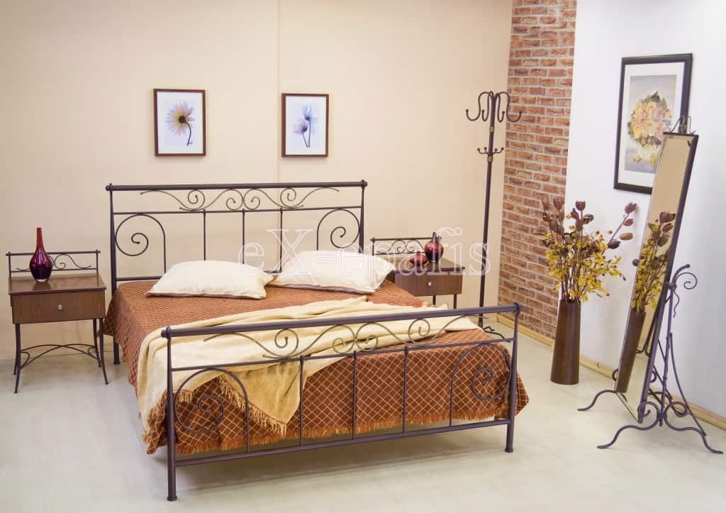 μεταλλικό κρεβάτι πολύμνια 115