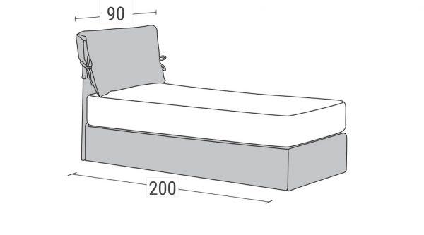 Καναπές Κρεβάτι Benefit Linea Strom Διαστάσεις