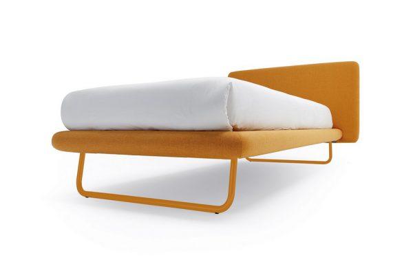 Κρεβάτι Doxy Noctis με Πόδια στο Χρώμα του Υφάσματος