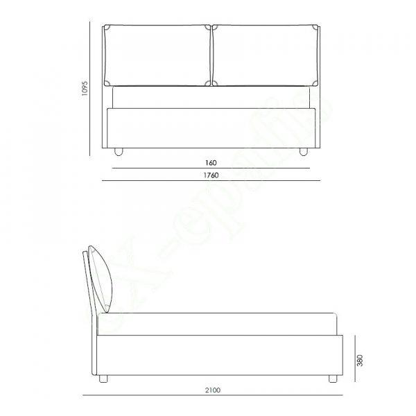 Κρεβάτι Jack Eco Italy - Διαστάσεις