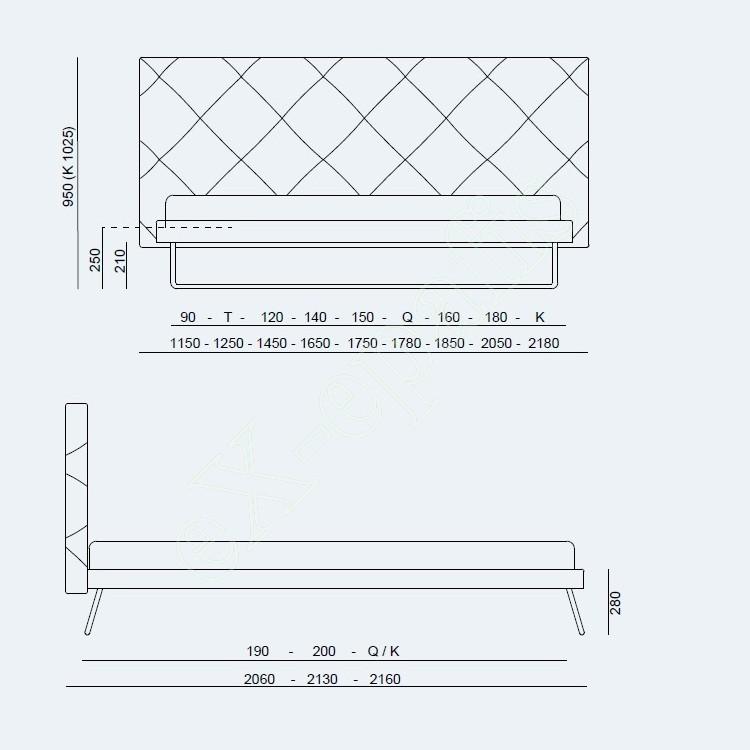 Κρεβάτι Guru Fix Project Noctis - Διαστάσεις