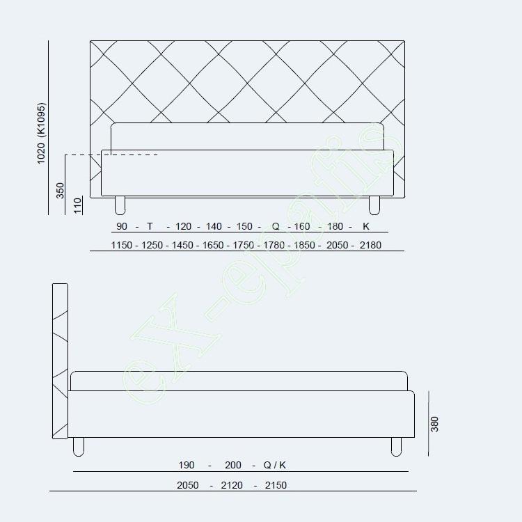 Κρεβάτι Guru Project Noctis - Διαστάσεις
