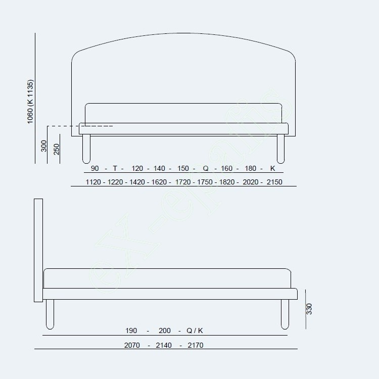 Κρεβάτι Jazz Fix Project Noctis - Διαστάσεις