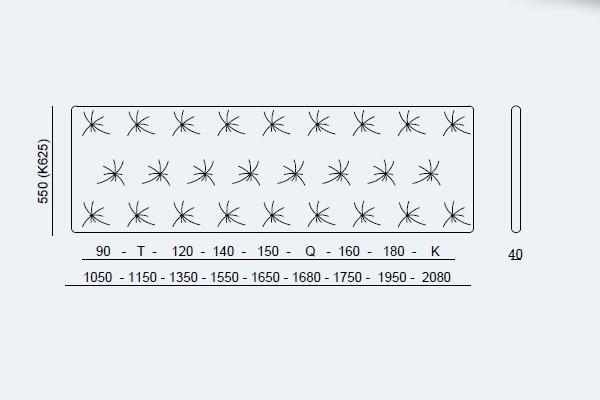 Κρεβάτι Smart Project Noctis - Μαξιλάρι Διαστάσεις