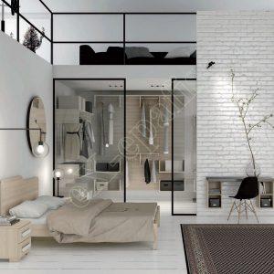 Master Room με Βεστιάριο Κρεβάτι Γραφείο Colombini Target M101