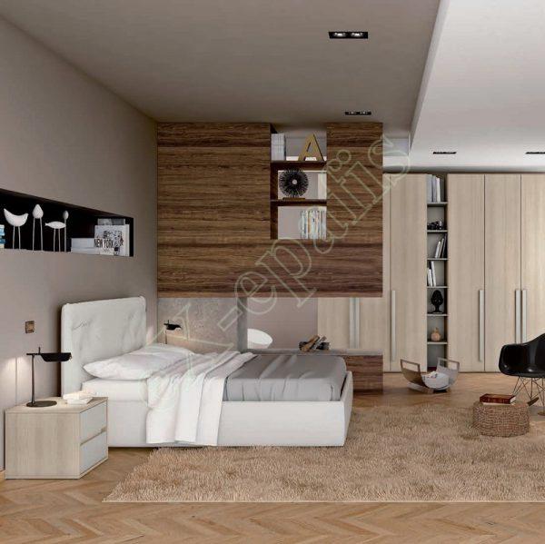 Master Room με Ντουλάπα Κρεβάτι Βιβλιοθήκη Colombini Target M103