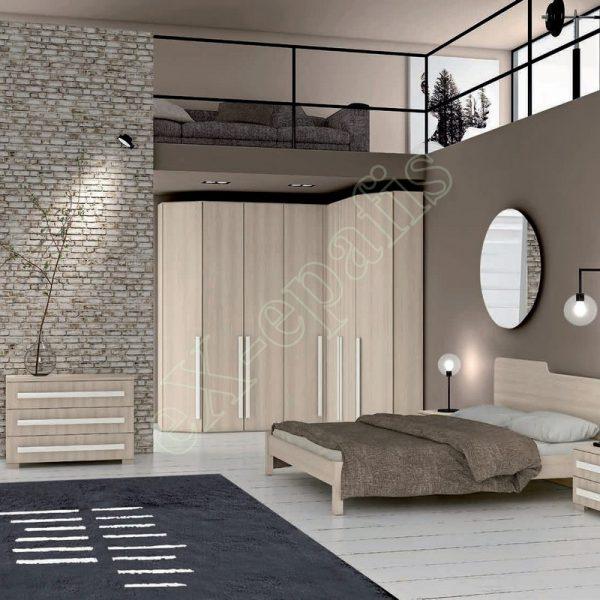 Master Room με Ντουλάπα Κρεβάτι Συρταριέρα Colombini Target M105