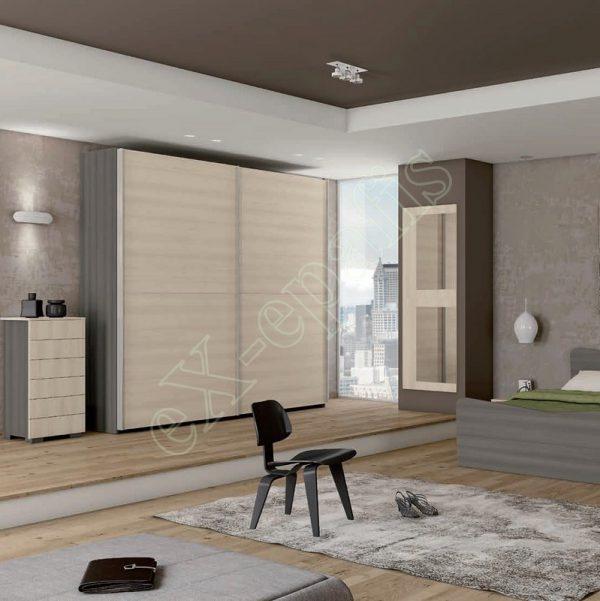Master Room με Ντουλάπα Κρεβάτι Συρταριέρα Colombini Target M107