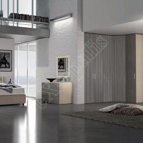 Master Room με Ντουλάπα Κρεβάτι Τουαλέτα Colombini Target M108