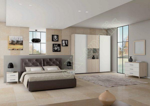 Master Room με Ντουλάπα Κρεβάτι Τουαλέτα Colombini Target M110