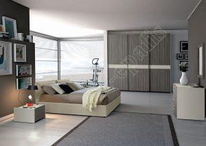 Master Room με Ντουλάπα Κρεβάτι Τουαλέτα Colombini Target M112