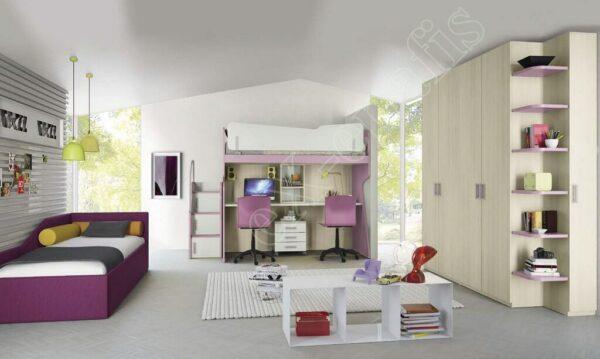 Kids Bedroom Colombini Volo C17