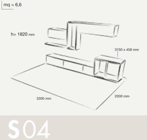 Wall Unit Set Colombini Volo S04