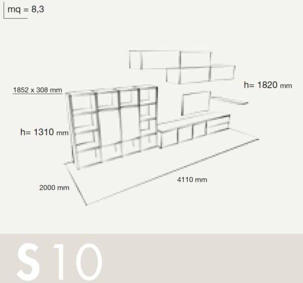 Wall Unit Set Colombini Volo S10