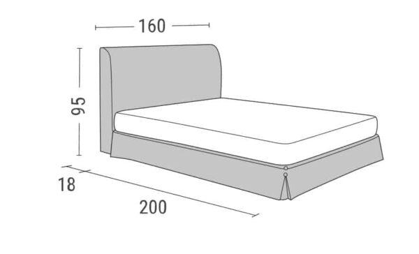 Κρεβάτι Fiona Linea Strom