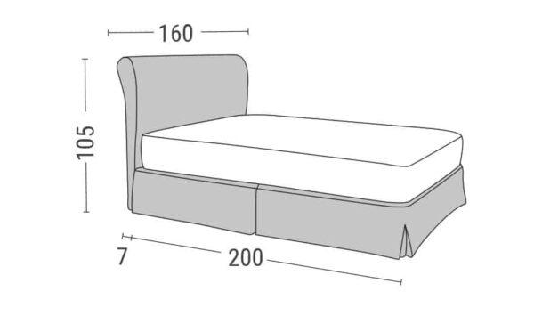 Κρεβάτι Iro Linea Strom