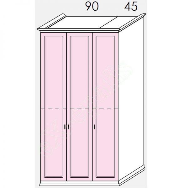 Ντουλάπα 3φυλλη 142cm H268cm Arcadia Colombini