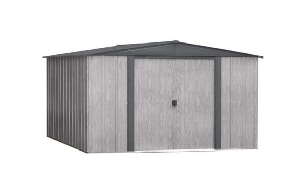 driftwood steel shed 10x12 b