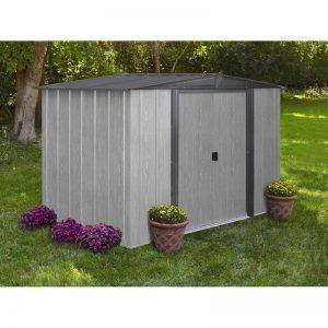 driftwood steel shed 8x6 b