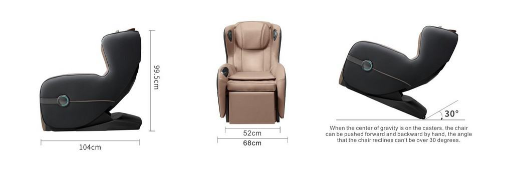 Polythrona Massage Chair iRest sl158 Queen Διαστάσεις