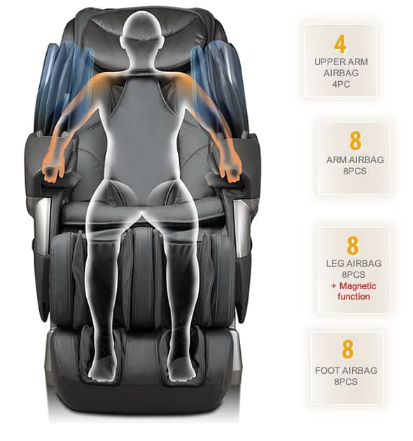 Polytrhona Massage Chair irest A382 Air bags