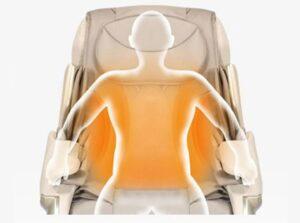 Massage chair irest A86-1 Robostic 3D Zero Gravity Carbin Fuber Far Infrared Heating