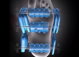 Massage chair irest A86-1 Robostic 3D Zero Gravity foot massage with rollers