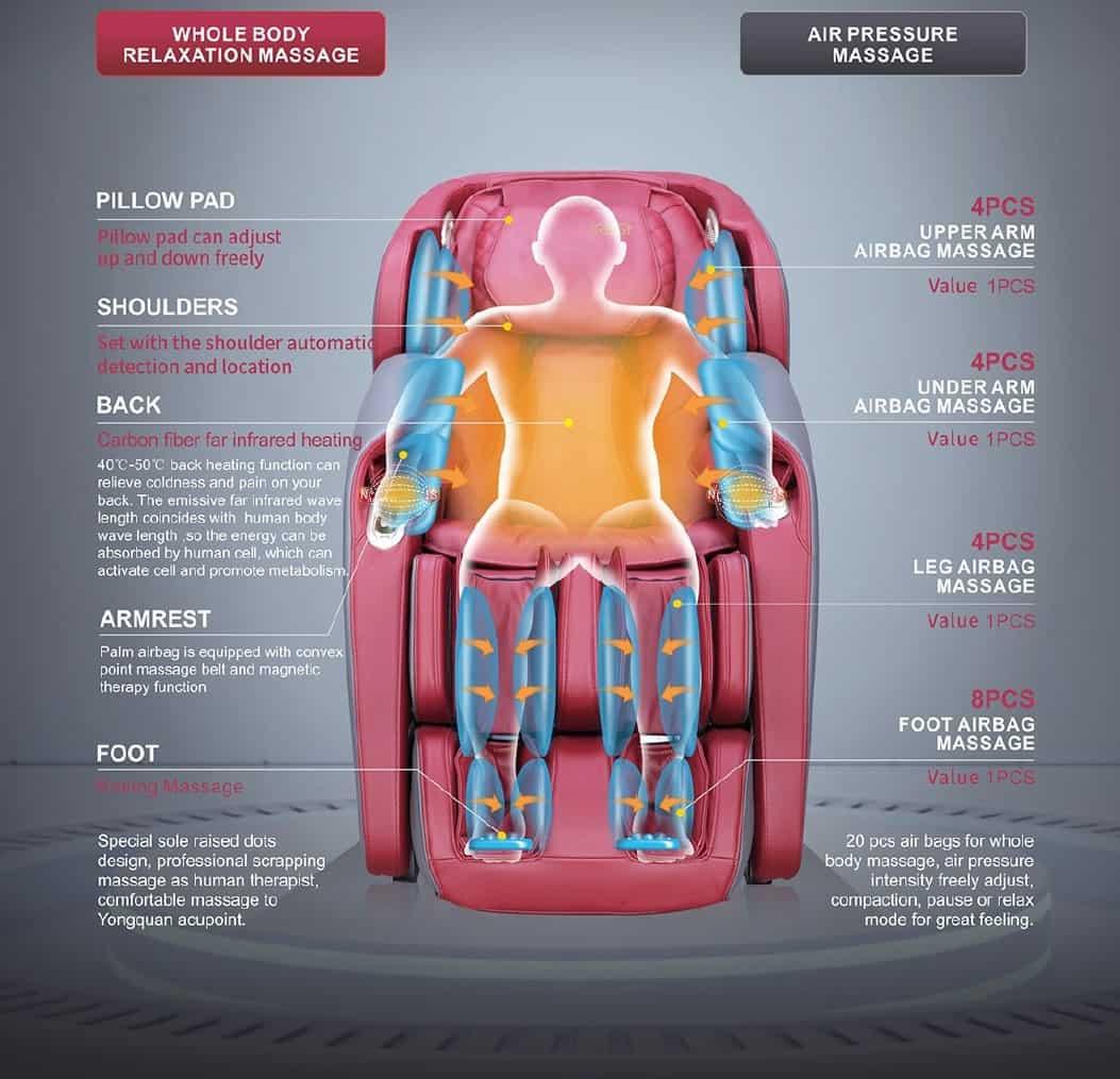 massage chair a307 info
