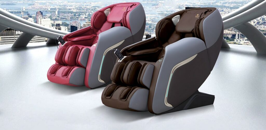 Massage Chair irest A307 charm red & retro coffee