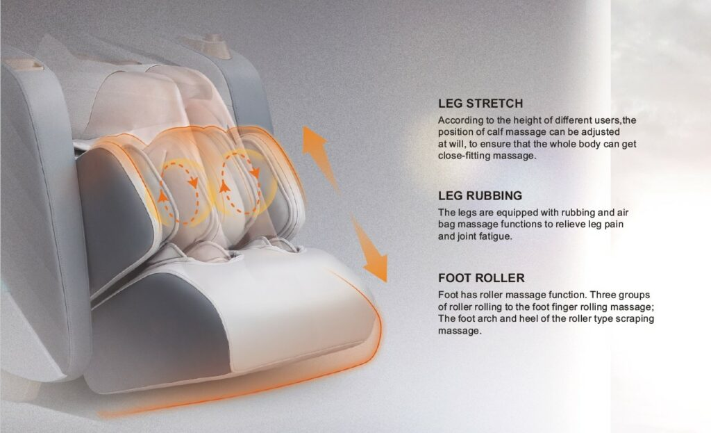 massage chair a600 legs