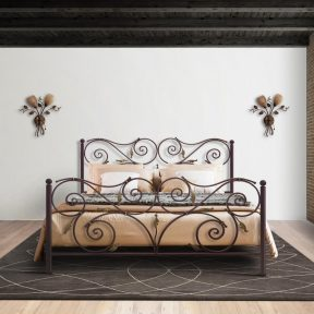 Hand Made Metal Bed Ourania 116