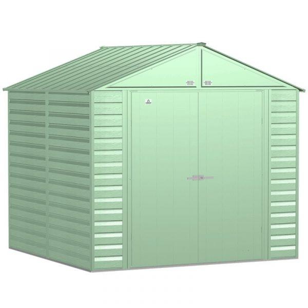 Arrow Select Steel Storage Shed Sage Green 10x8