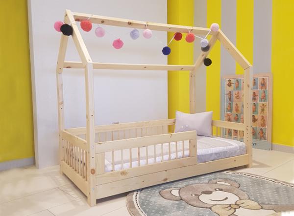 Καναπές Κρεβάτι Genius Μοντεσσόρι Φυσικό Ξύλο Πεύκο