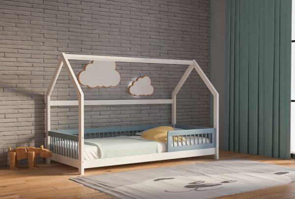 Καναπές Κρεβάτι Genius Montessori White Blue