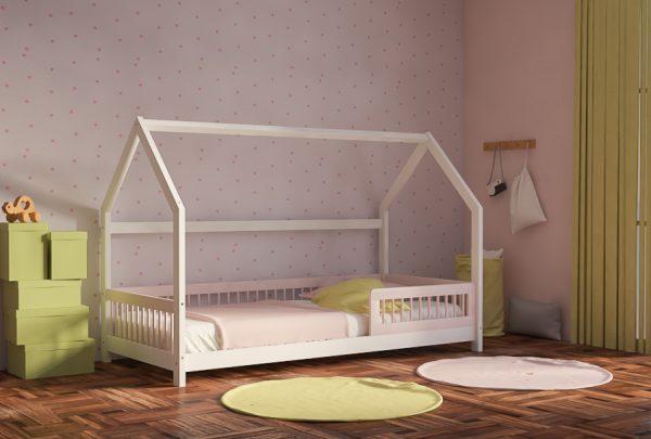 Καναπές Κρεβάτι Genius Montessori White Pink