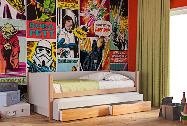 Παιδικός Καναπές Κρεβάτι King Φυσικό Οξιά