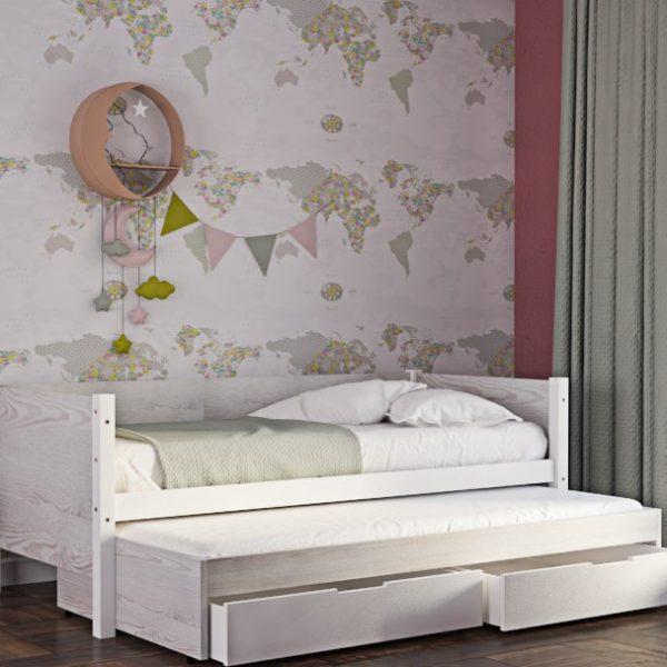 Παιδικός Καναπές Κρεβάτι King Λευκή Οξιά