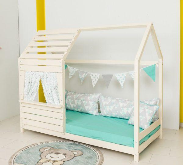 Παιδικό Κρεβάτι Lovely Montessori Λευκό