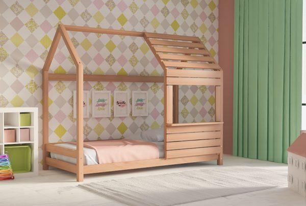 Παιδικό Κρεβάτι Lovely Montessori Φυσικό Οξιά