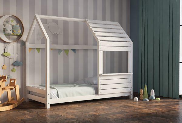 Παιδικό Κρεβάτι Lovely Montessori Λευκό Οξιά
