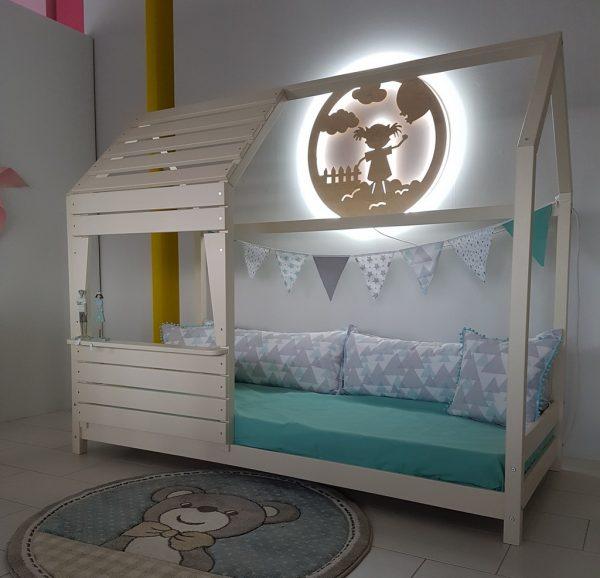 Παιδικό Κρεβάτι Lovely Montessori Λευκό Night