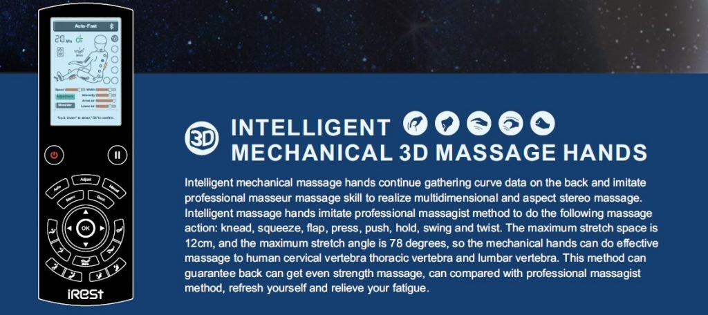 Massage chair irest a701 controller