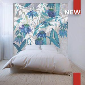 wallpaper blue flowers 747 suite collection (1)