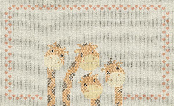 wallpaper cross stitch giraffes 767 suite collection (1)