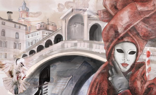 wallpaper red mask 761 suite collection (1)